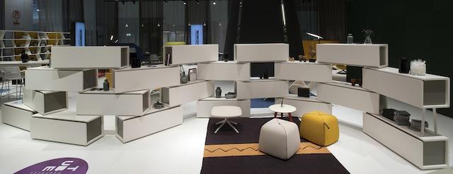 DEU, Deutschland, Koeln, Orgatec 2014, Messestand der Firma Koleksiyon aus Istanbul | DEU, Germany, Cologne, Orgatec 2014, booth Koleksiyon