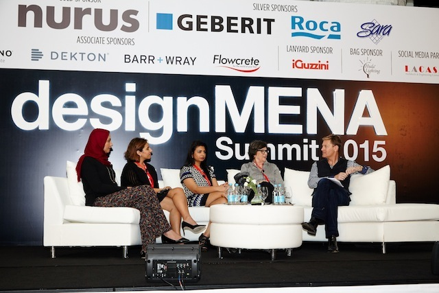 Panel Discussions - DesignMENA Summit 2015 taken on the 8th of December 2015 at Grosvenor House, United Arab Emirates, (Photo by Sharon Haridas /ITP Images)