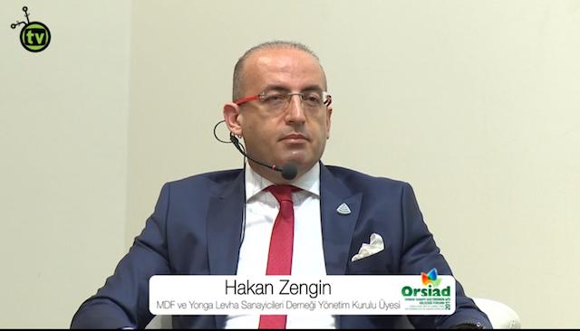 MDF ve Yonga Levha Sanayicileri Derneği adına, Divapan Genel Müdürü, Sn. Hakan Zengin