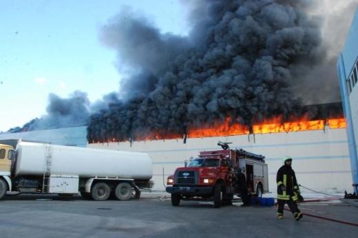 Merinos'ta yangın