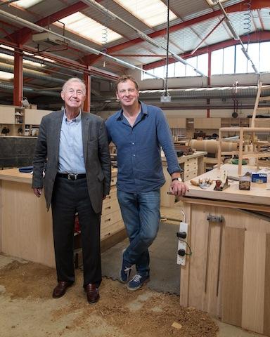 Terence Conran and Sean Sutcliffe (Photo Credit - Angus Thomas)